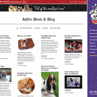 Astro Pet Sitters blog page