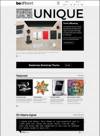 BeDifferent Website Template