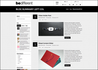 Bootstrap Based Template
