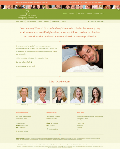 Contemporary Women's Care home page