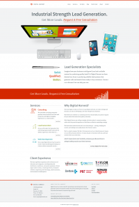 Media Business Responsive Web Site