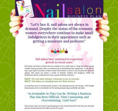 Nail Salon Business Plan sales letter format