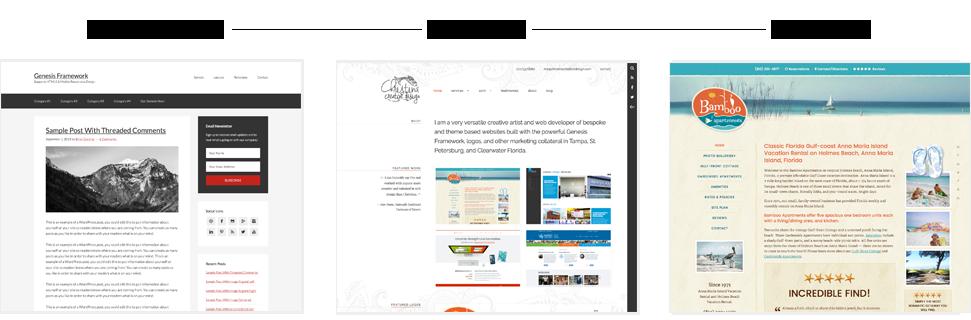 Genesis parent theme and custom chld theme examples