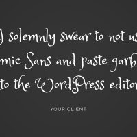 Taming the WordPress editor the easy...