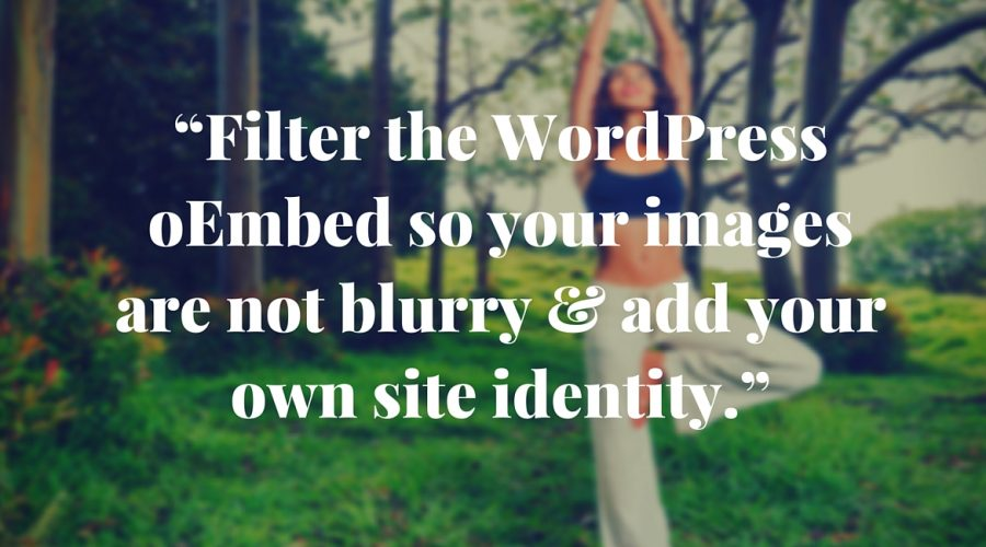 Fix blurry images in your WordPress...