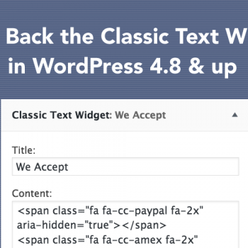 How to Bulk Replace the 4.8 WordPress Text Widget...